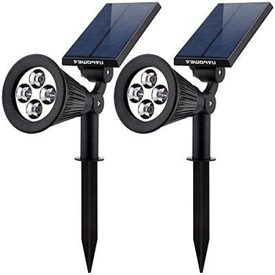 Solar Lights 2 in 1 Waterproof 4 LED Spotlight Adjustable Wa