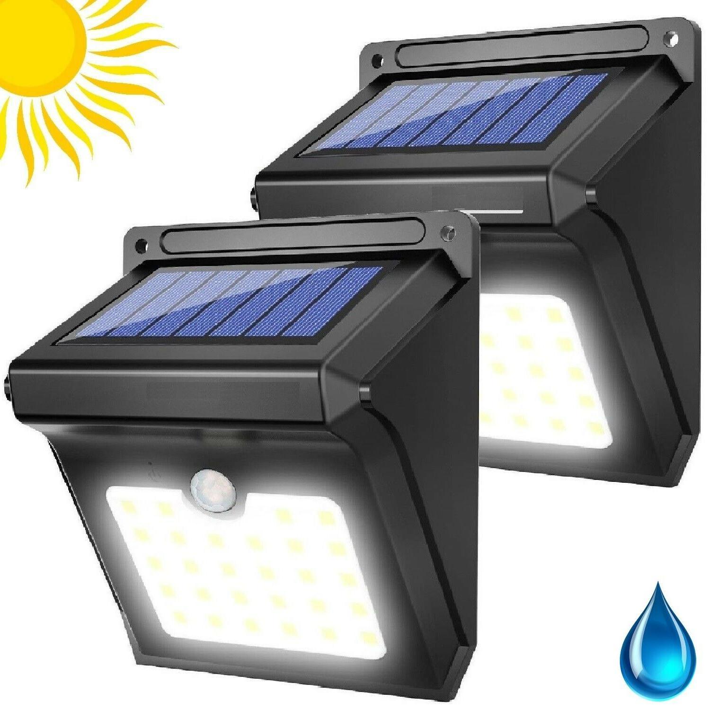 Solar Lights 28 LED Dusk To Dawn Light Power Outdoor Waterpr