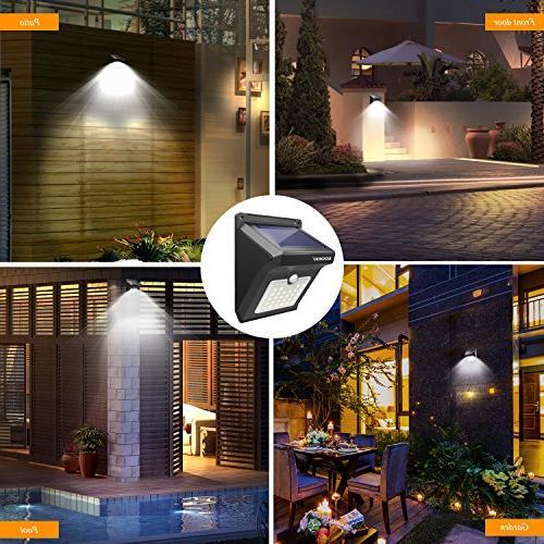 Solar LED Motion Sensor Wireless Motion Security Wall Lights Yard Deck Garage 2