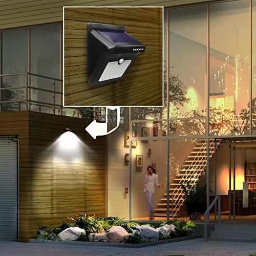 Solar Motion Sensor Outdoor, 28 Waterproof Solar Powered Lights, Night Lights Patio Yard Deck Garage Driveway Pack