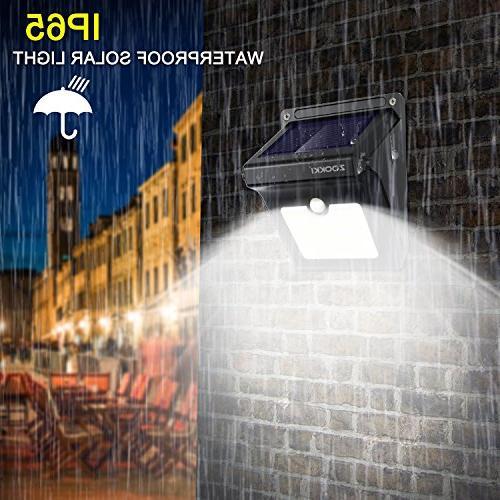 Solar Motion Sensor Wireless Waterproof Solar Motion Wall Lights Gate Driveway Stairs Yard Deck Pathway 2