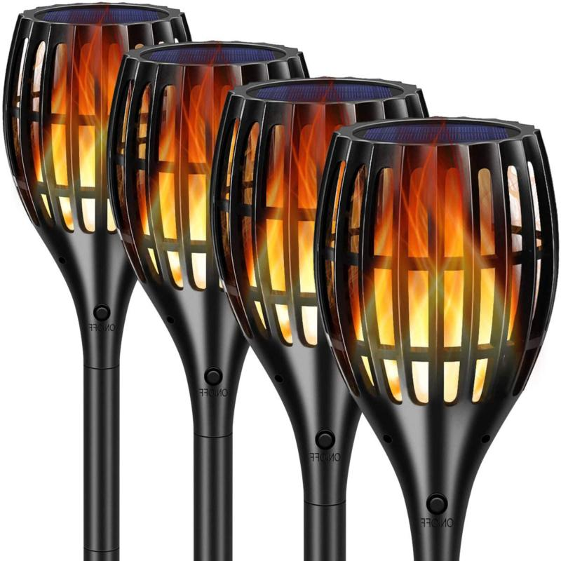 Tomcare Solar Lights Version Flame Torches Lights