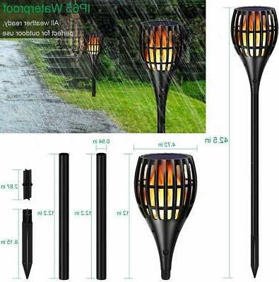 Solar Lights Version Flickering Flame Torches Light Waterproof Outdoor Yard