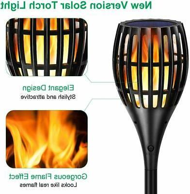 Solar 2nd Flickering Flame Torches Waterproof Yard