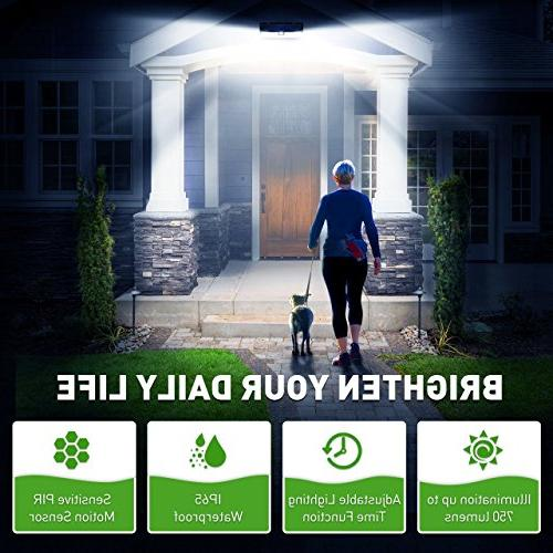 Litom Time Solar Light with Wide Angle and Design, Solar Lighting for Yard Patio