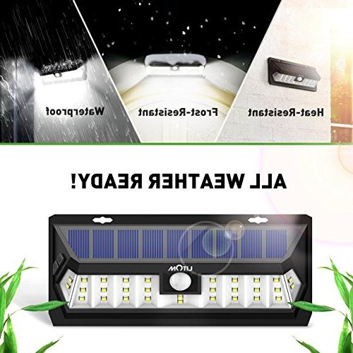 Litom 30 Time Solar Motion Light Wide and Waterproof Solar Yard Patio