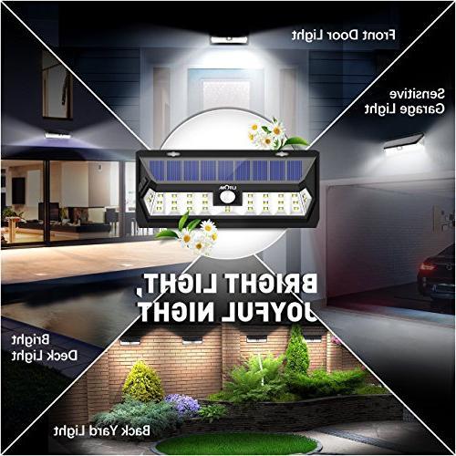 Litom Solar Lights 30 Adjustable Time Solar Light Wide Solar Lighting Yard
