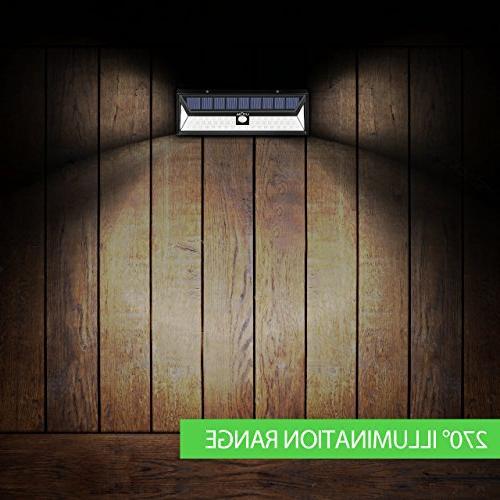LITOM Solar Lights Outdoor, 54 LED 270°Wide Sensor Lights, Solar Light for Front Door, Yard, Deck, Porch,