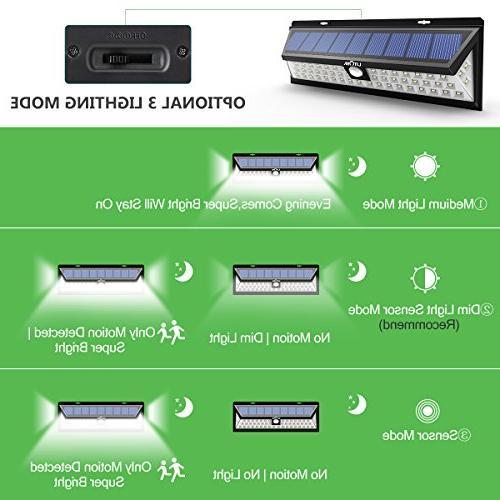 LITOM Solar Outdoor, 54 LED Bright 270°Wide Lights, Wireless Solar Door, Porch,