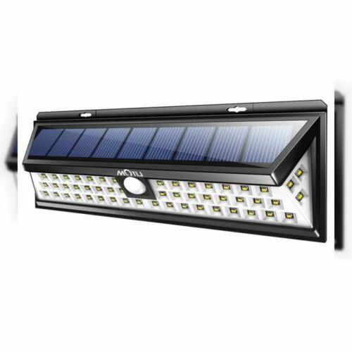 LITOM Lights Outdoor, 54 LED 270°Wide Motion Lights, Waterproof Solar Light for Door, Deck, Porch, Walkway, Fence