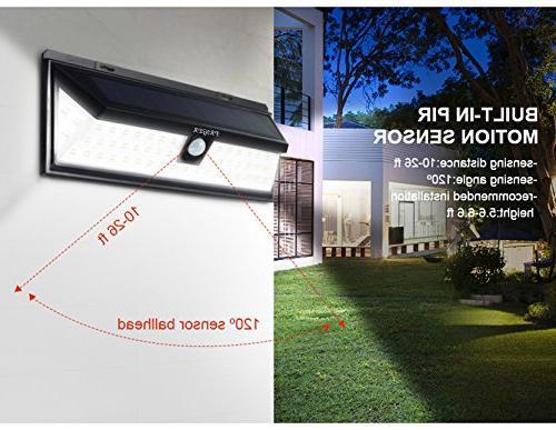 Priger Solar Motion Light - Outside LED Flood / Spotlight for Patio, Garden, Waterproof Powered Yard / Light