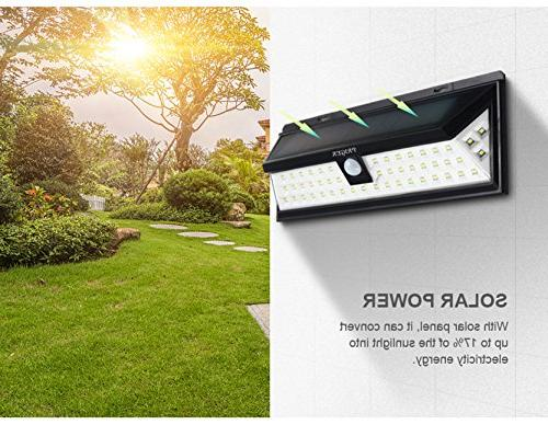 Priger Solar Lights Outdoor Motion Sensor Security Light - / Garden, Deck, Waterproof Wireless Yard /