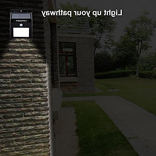 URPOWER Solar Lights Wireless Waterproof Light Patio, Yard, Activated Auto On/Off
