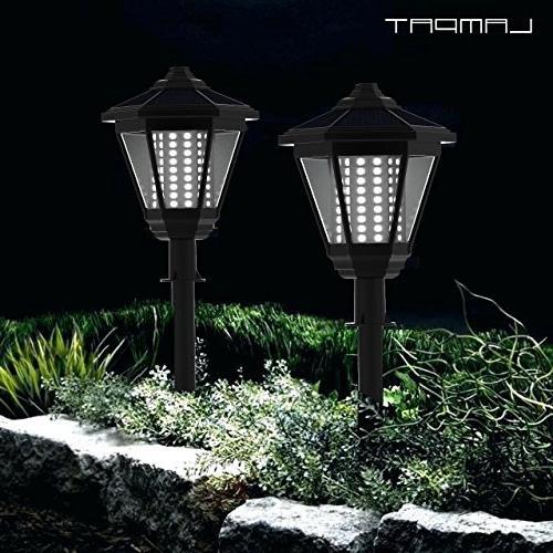 LED Columns Post Lantern Pole Pathway Garden Light for Deck Path Lawn 2 Pack