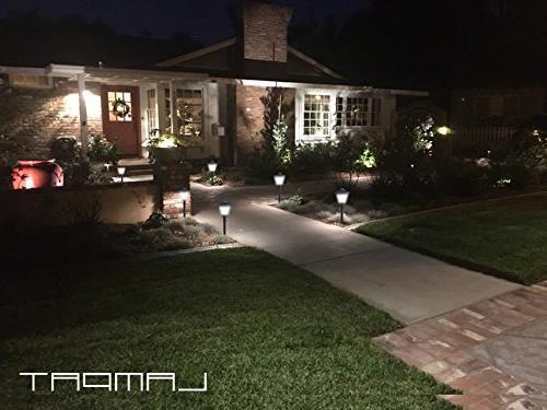 LAMPAT 108 LED Post Lantern Pole Garden Landscape for Deck Path Lawn 2 Pack