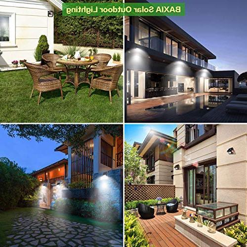 BAXIA Solar Lights Outdoor,Wireless LED Solar Motion Sensor Lights Wall,Back Yard,Fence,Garage,Garden,Driveway