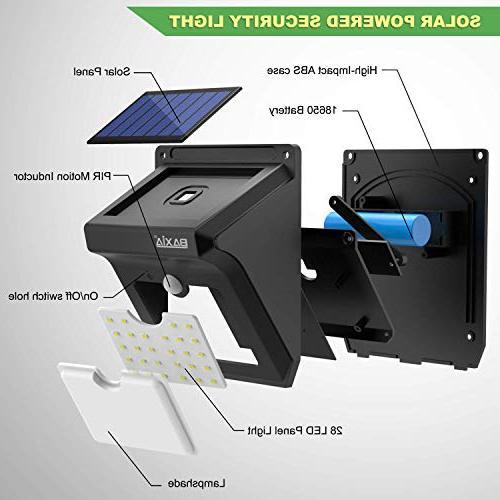 BAXIA TECHNOLOGY Outdoor,Wireless 28 Motion Lights Yard,Fence,Garage,Garden,Driveway
