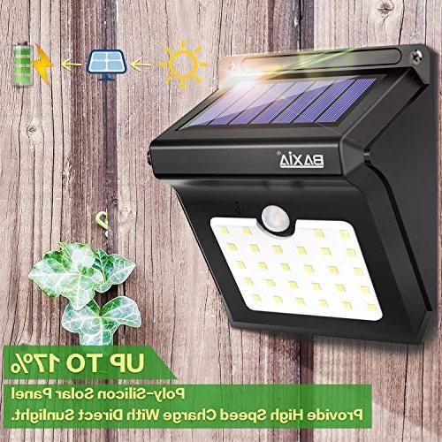 BAXIA Solar Outdoor,Wireless Solar Lights for Yard,Fence,Garage,Garden,Driveway