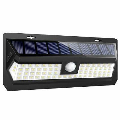 AMIR Lights Outdoor, 62 Motion Sensor Wall Lights, Wireless Garden with & Auto On/Off Front Yard,