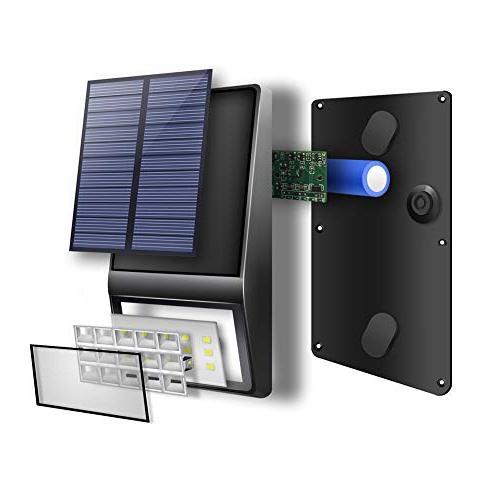 Solar 4 Pack - LED Bright Solar Motion Sensor Lights DIM Solar Powered Security Light for Garden Patio Wall Fence Step Deck
