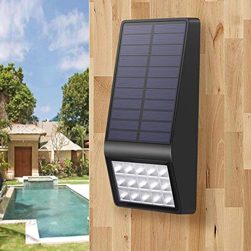 Solar Lights Outdoor Pack XINREE LED Super Motion Sensor Lights with Solar Powered Security Wall Path Step Deck