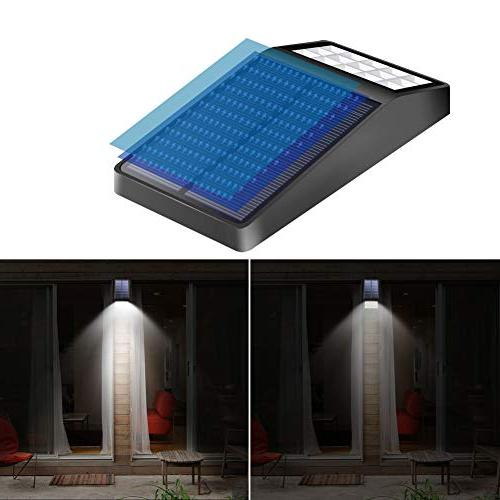 Pack - XINREE LED Bright Motion Sensor Lights with DIM Mode Solar Security Light for Patio Wall Path Fence Deck