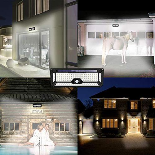 Solar 136LED Lights of Sides Area,Super Security Lights Door, Garden, Patio,Yard