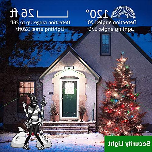 Solar Lights 136LED of Sides Area,Super Bright,Easy Installation Security Lights for Door, Garden, Patio,Yard