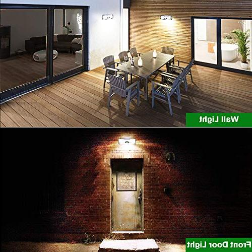 Solar Lights Outdoor, Wireless 136LED of 4 Sides Wide Area,Super Bright,Easy Security Lights Door, Garden, Patio,Yard