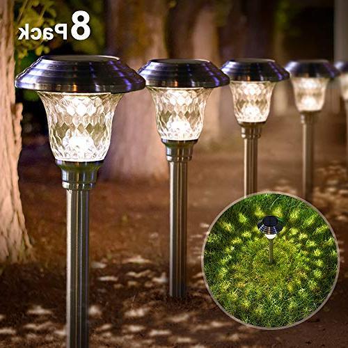 solar lights bright pathway garden