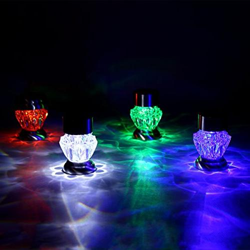 GIGALUMI Lights Dual Landscape/Pathway Lights Color Changing and White-4Pack