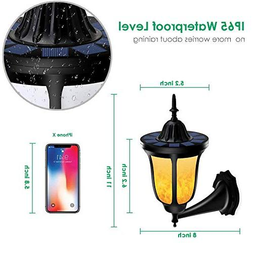 TomCare Lights Flickering Flames Wall 96 LED Outdoor Flame Wireless Night New Design for Door Patio Yard