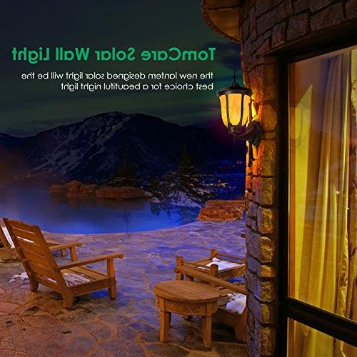 TomCare Solar Lights Flames LED Solar Lights Night Lights Patio
