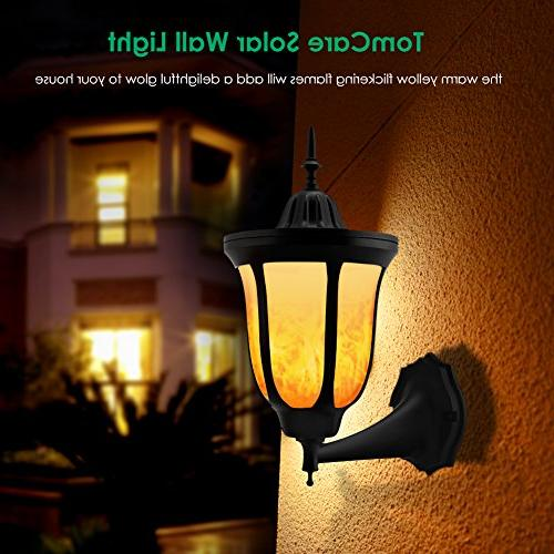 TomCare Flames Lights 96 LED Wall Outdoor Wireless Night Lights Design for Patio