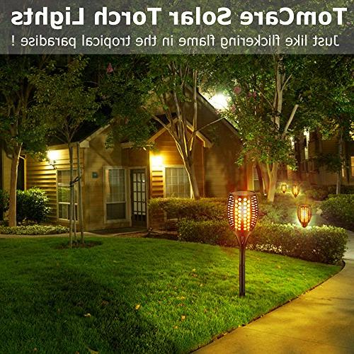 TomCare Lights Waterproof Flickering Flames Lights Outdoor Landscape Decoration Lighting to Dawn Patio Driveway