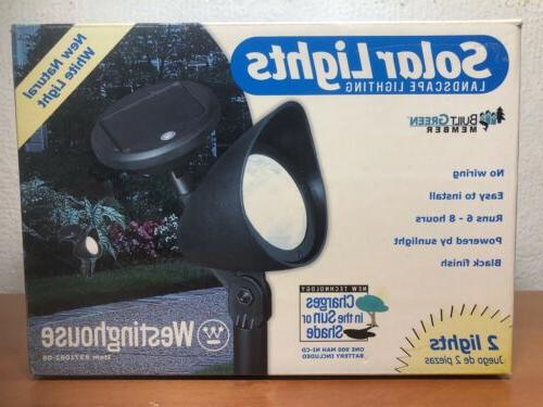 solar lights landscape lighting charges in