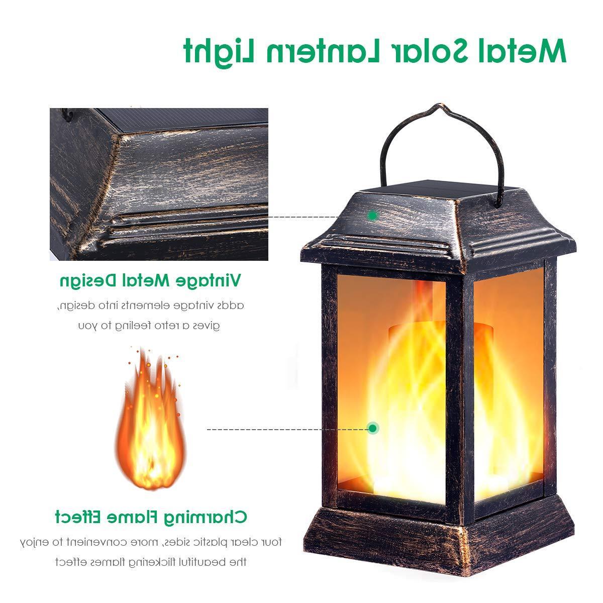 TomCare lights Flickering Flame Outdoor Hanging