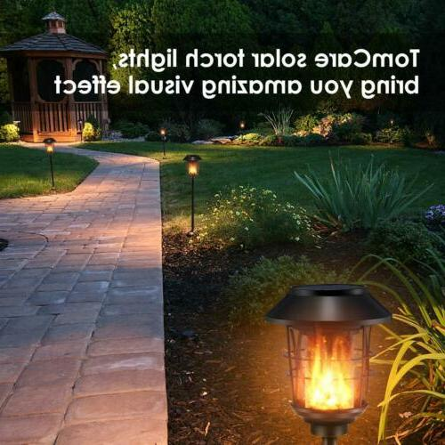 Solar Metal Flame Torches Lights Lights