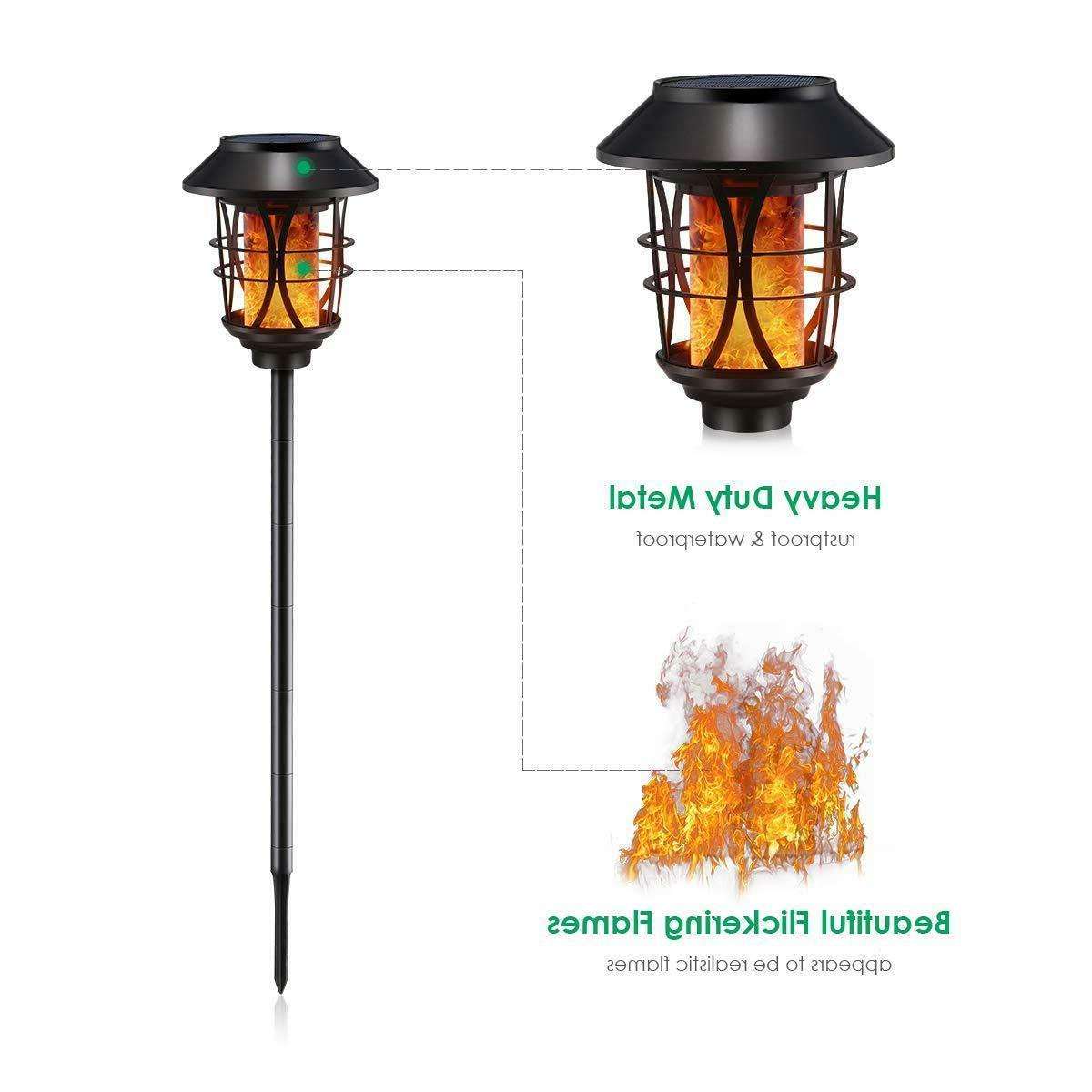 TomCare Lights Metal Flickering Flame Torches Waterproof Outdoor Heavy...