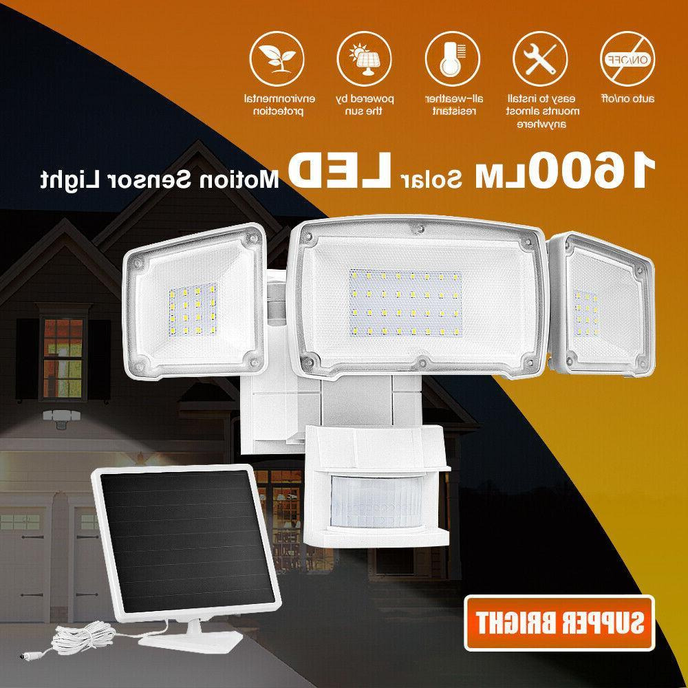 solar lights motion sensor 182 led 1200