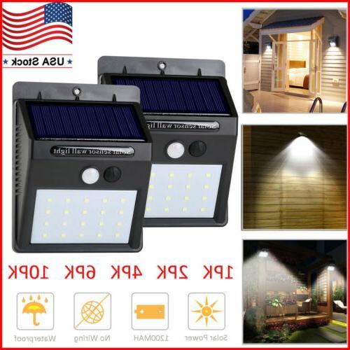solar lights motion sensor wall light outdoor