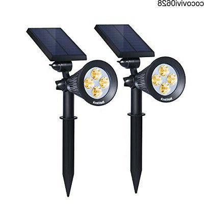 solar lights outdoor 2in1 spotlights powered 4