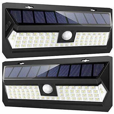 solar lights outdoor 62 led super bright