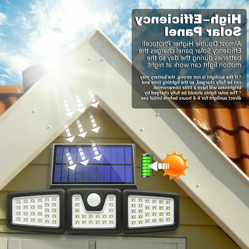 1/2PACK Solar Lights Sensor, 74 LED Waterproof Adjustable head
