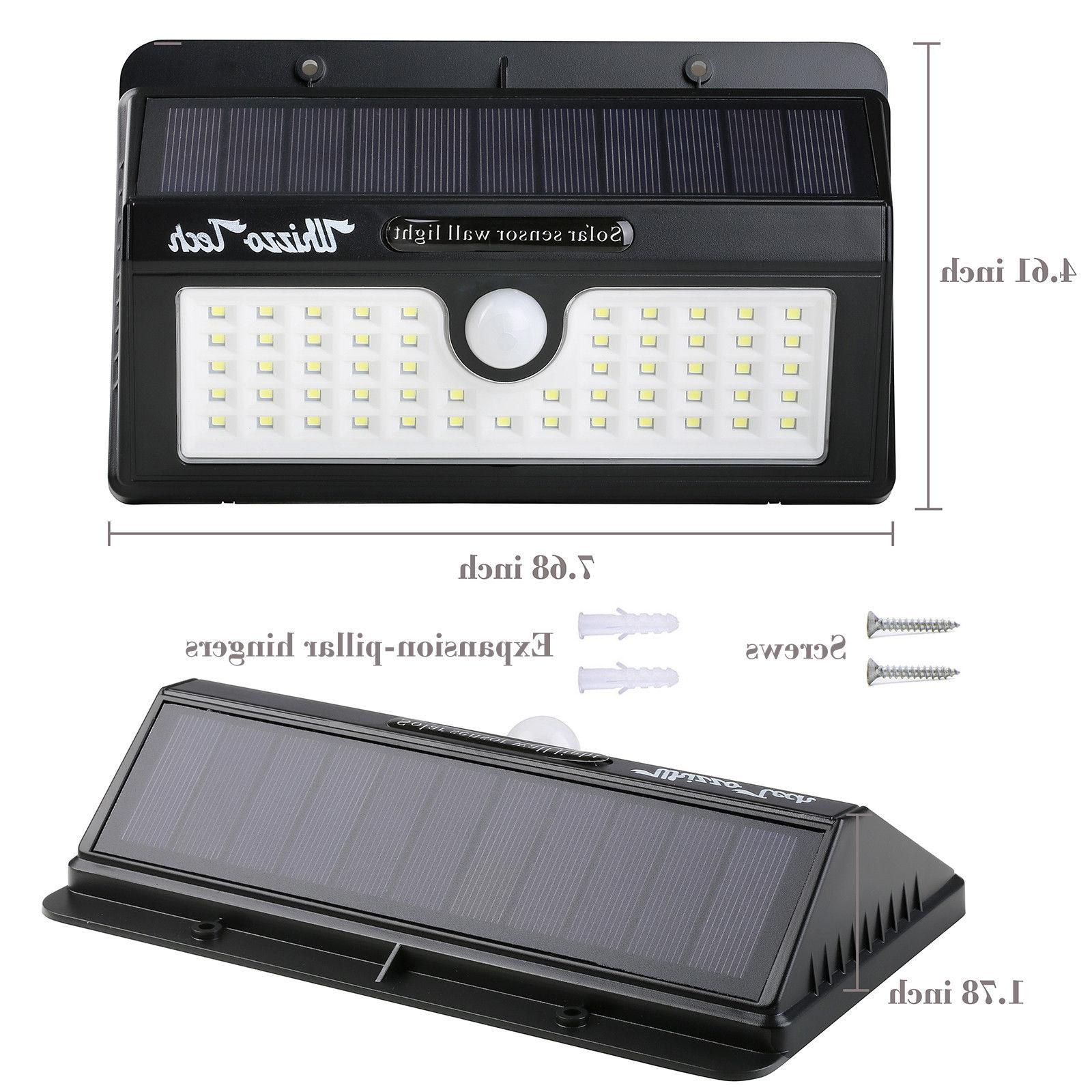 Solar Lights Outdoor Sensor Patio LED