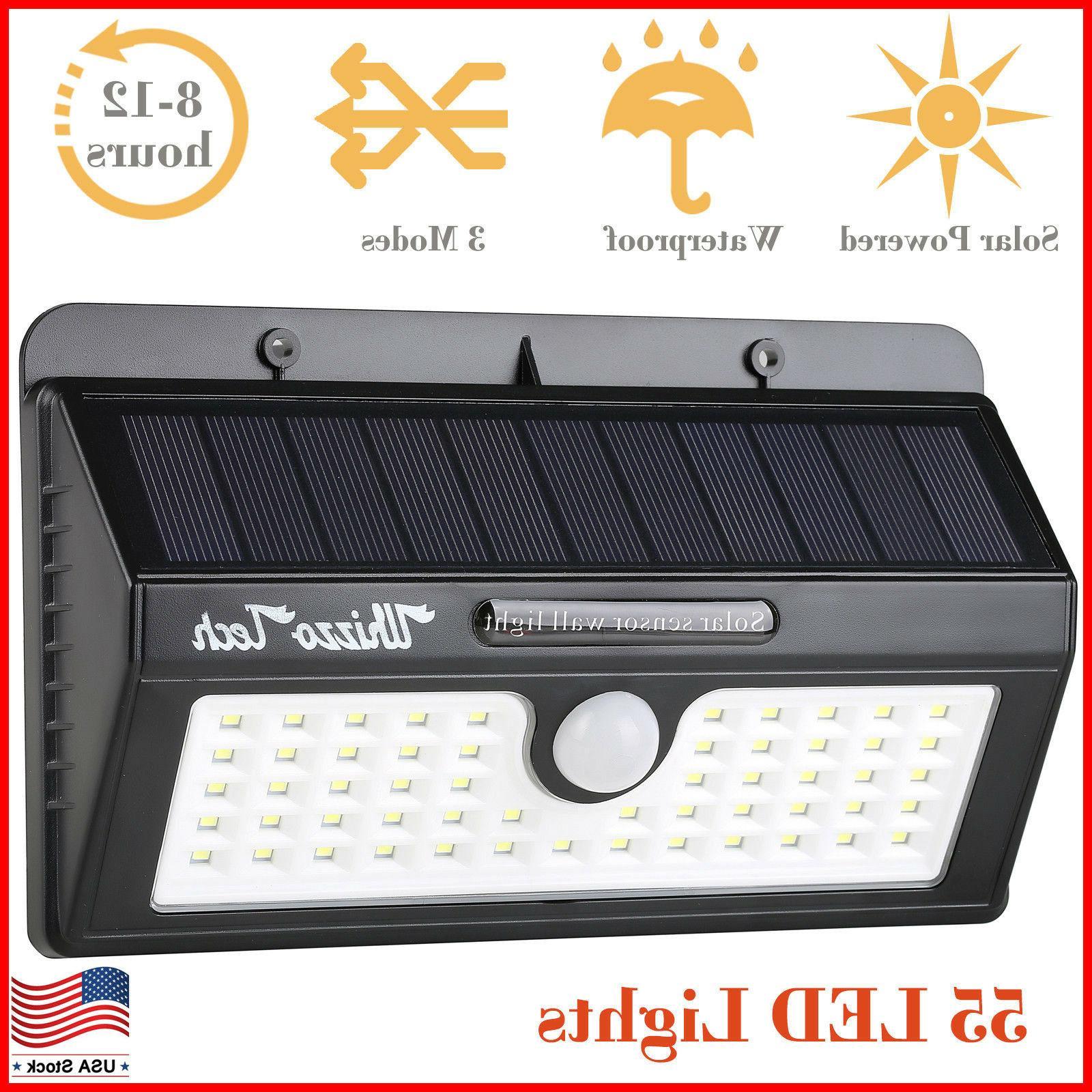 solar lights outdoor motion sensor security deck