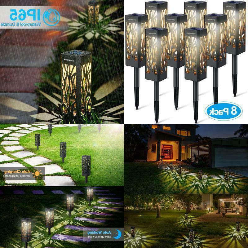 solar lights outdoor pathway lights garden lights