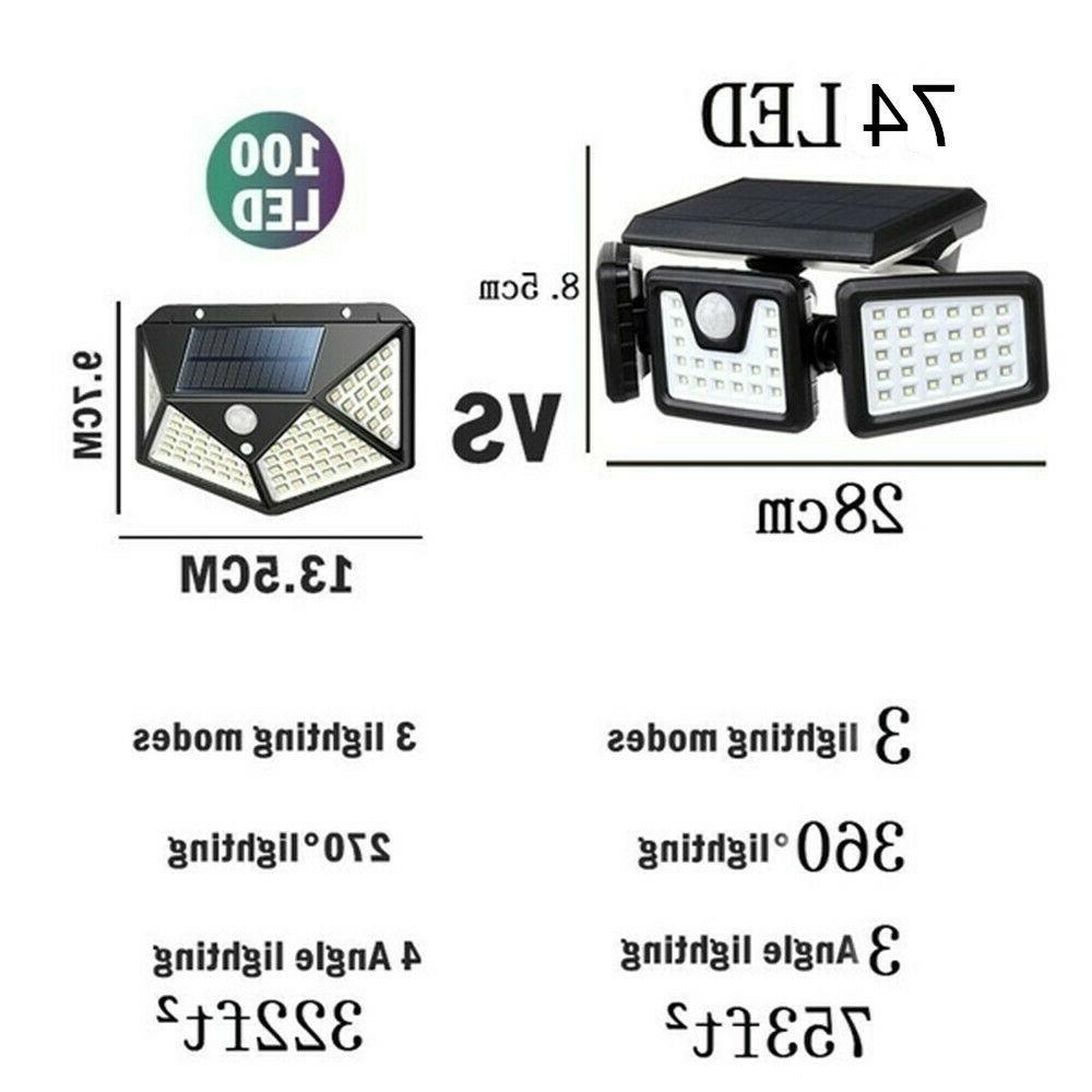 Solar Lights Bright LED Sensor