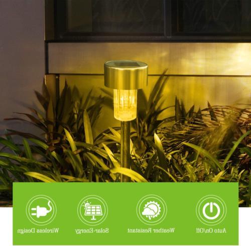 Solar Outdoor Stainless Steel Waterproof 12Pack