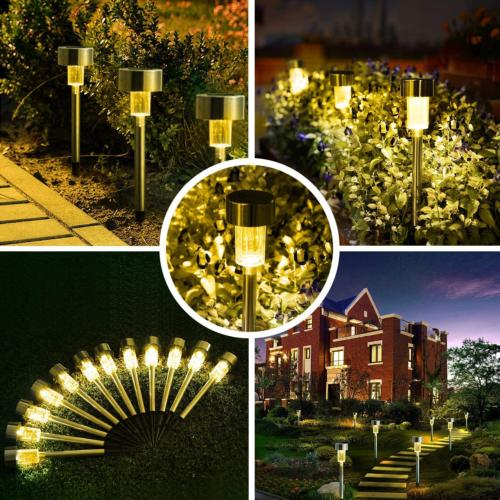 solar lights outdoor stainless steel waterproof outdoor